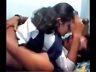 Mms of an Indian school girl in the bedroom of tuition teacher